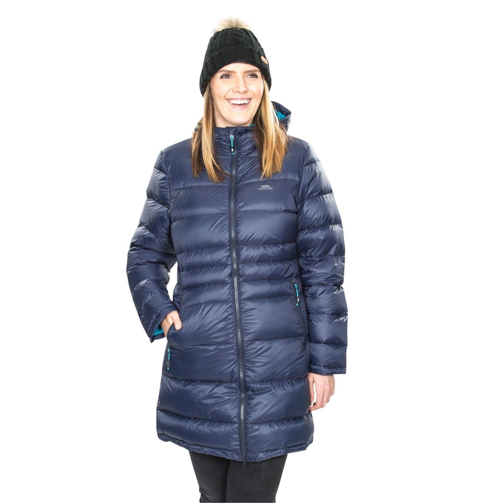 ce1a7585a03 Trespass pure down jacket Warm Womens Down Jacket Winter Long Ladies Parka  Coat