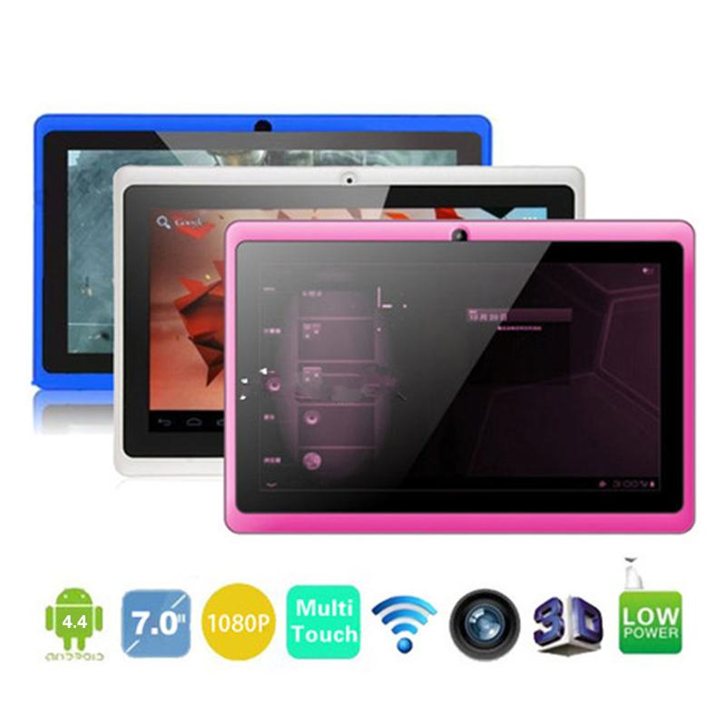 Allwinner A33 Quad Core 7 inch Tablet Q88 WIFI Bluetooth MID Dual Cameras  Android 4 4 OS 512MB 8GB Cheapest Quad Core Run Fast