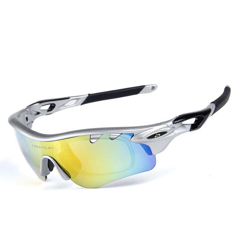 a129ace31e OBAOLAY Ciclismo Deporte Gafas De Sol Polarizadas Mountain Bike Gafas De  Bicicleta Unisex Gafas De Ciclismo Con 5 Lentes Occhiali Ciclismo Por  Shinyday, ...