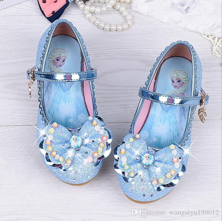 63f08d9d980b Princess Shoes Children s High Heels 2018 New Girls Blue Crystal Girl Dance  Shoes Casual Fashion Baby Sandals Leisure Sport Sports Fashion Children s  Shoes ...