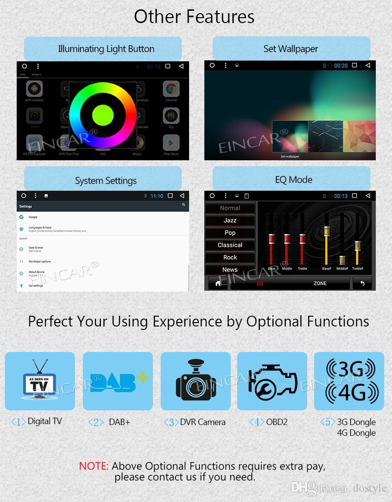 Android 7.1 Car Radio CD Car Stereo GPS coche DVD de navegación para Toyota Camry 2007- 2012 en Dash HeadUnit Receptor