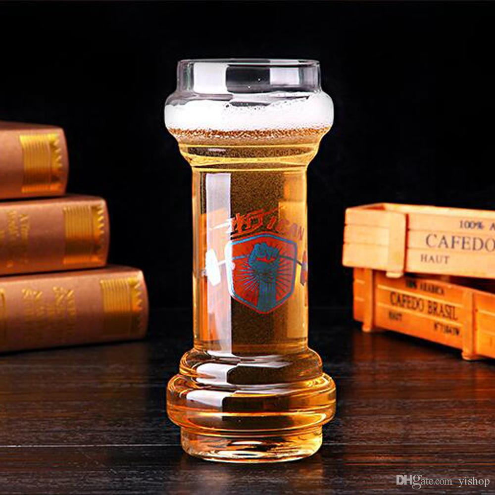 700ML Creative Dumbbell Big Capacity Beer Cups Glasses Wine Glass Good Cheers For World Cup Whiskey Glasses Shot Glasses Drinkware