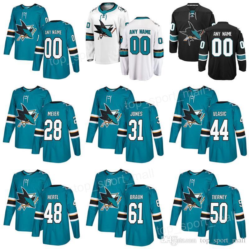 2019 San Jose Sharks 48 Tomas Hertl Jerseys 20 Marcus Sorensen 31 Martin  Jones 28 Timo Meier 50 Chris Tierney 61 Justin Braun Custom Hockey Teal From  ... bce657e66