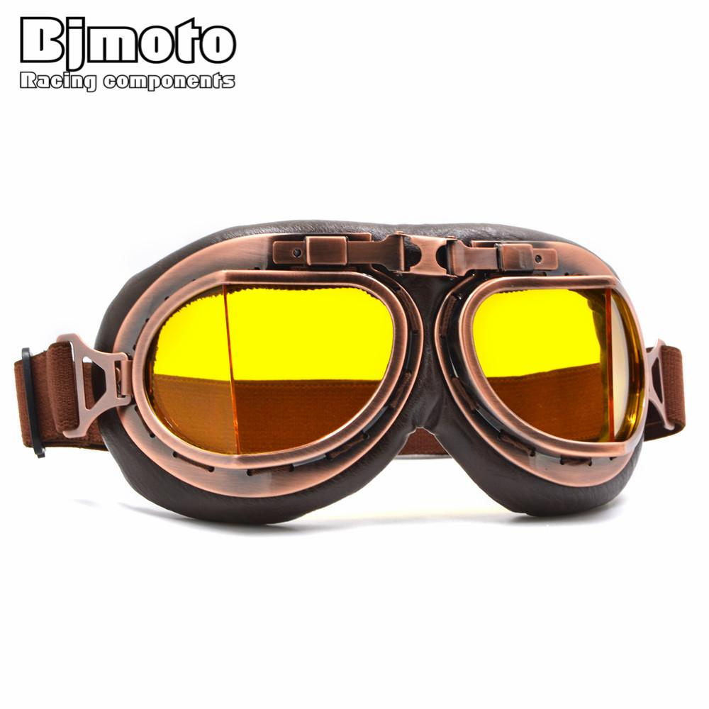 Compre Bjmoto 5 Cores Lente Óculos Da Segunda Guerra Mundial Do Vintage  Para O Estilo Harley Motocicleta Goggle Piloto De Moto Óculos Retro Jet  Capacete ... 384c7632d8