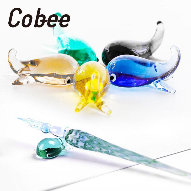 Cobee Glass Signature Pen holder kalemlik Ballpoint Pencil holder Pen Rack desk organizer Stationery Children gift