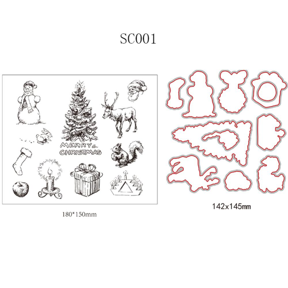 Transparent Stamp Clear Stamp Christmas Cutting Dies Diy