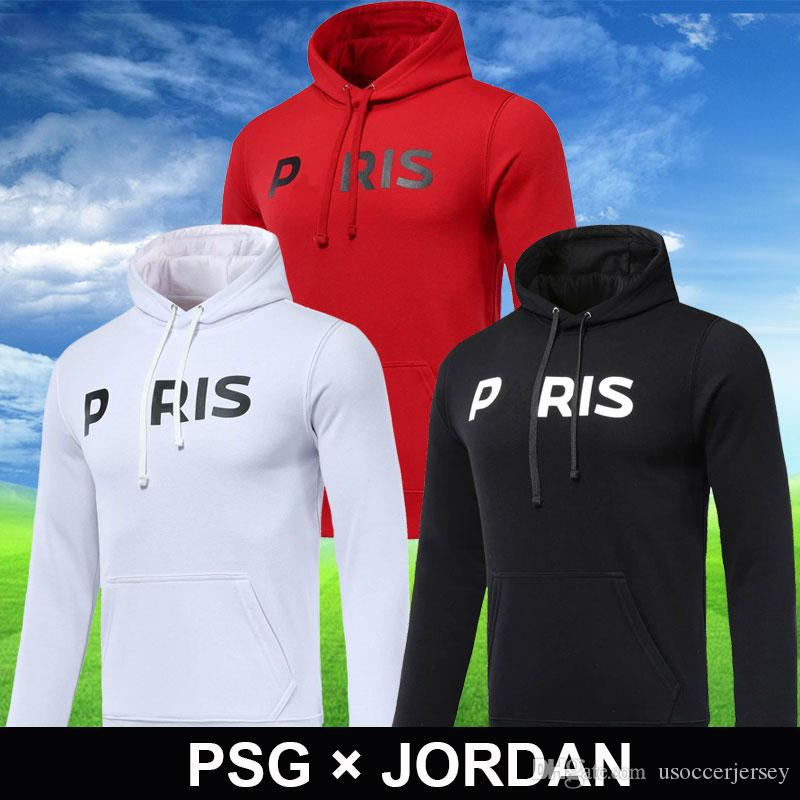 b486b0c71 2019 AAA 18 19 New PSG Champions League Football Hooded Tracksuit 2018 2019  Paris Hooded Jacket MBAPPE CAVANI Soccer Training Sweatshirt From  Usoccerjersey, ...