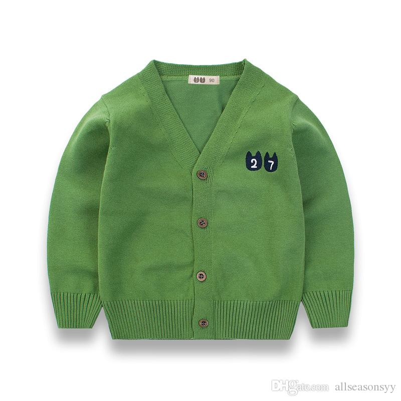 School Boys Girls Sweaters Spring Boys Cable Knit Sweater Cardigans