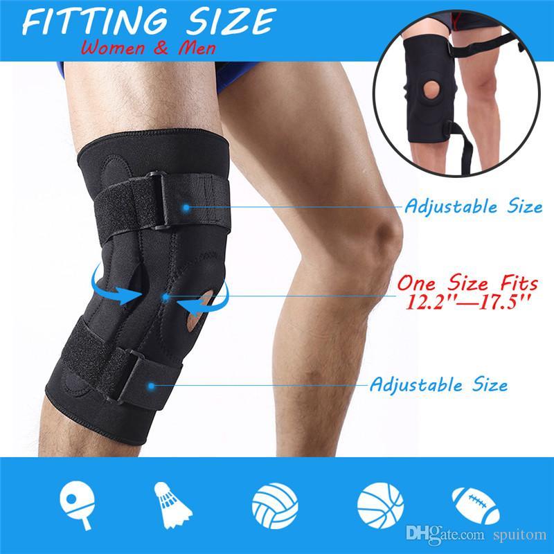Спуитом сжатия коленного бандажа, стабилизатор открытой коленной чашечки с регулируемой обвязкой для футбола, бег, бег трусцой, артрит, восстановление травм