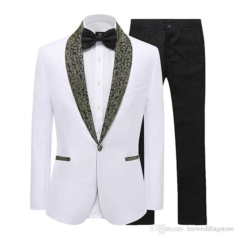 Suits Suits & Blazers Mens 3 Piece Wedding Suit Floral Slim Fit Stylish Prom Tuxedos Pattern Print Blazer Party Dinner Jacket Vest Pants Sets