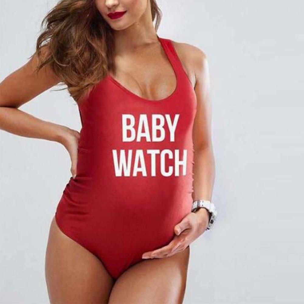 09550c5d4e1e 2019 Letters Print Maternity Swimwear Pregnant Women Swimsuit One Piece  Plus Size Pregnancy Clothes Beach Bathing Suit Maternidade From Runbaby, ...