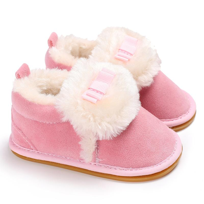 75048280d506e Cukbub Baby Girl Warm Soft Boots Shoes with Anti-slip Soles Infant Children  Winter Soft Booties Pink White Newborn Kid Prewalker