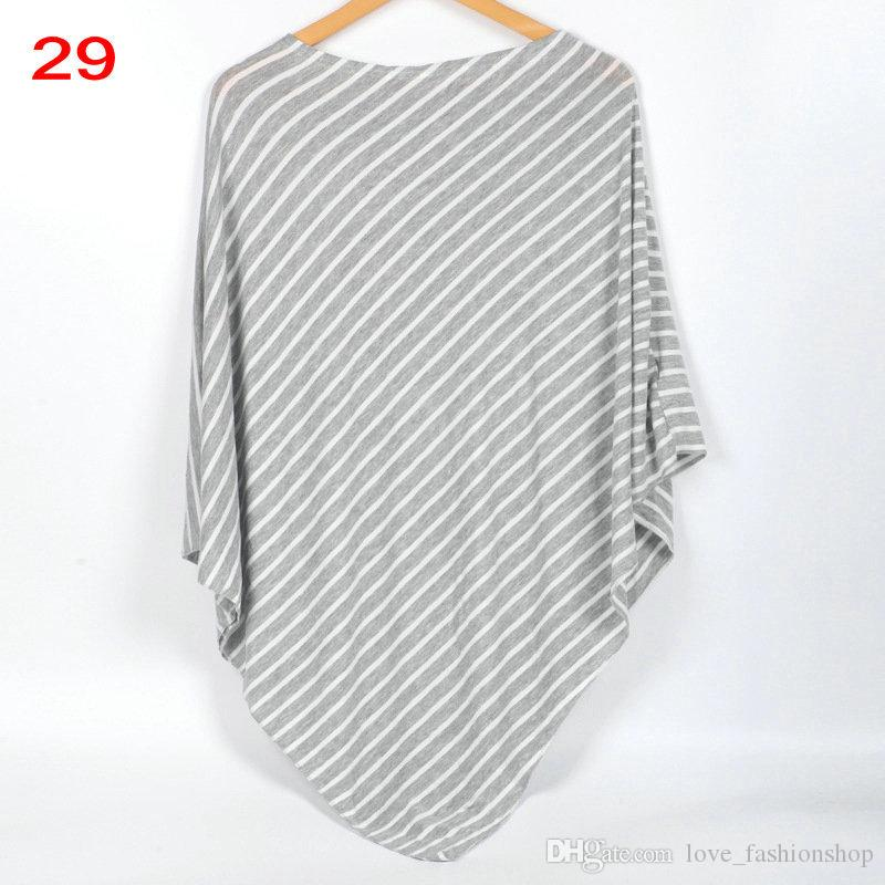 Baby Mum Stripe Cotton Nursing Cover Maternity Loose Tops Tshirt Infant Car Seat Cover Nursing Breastfeeding Breast Feeding