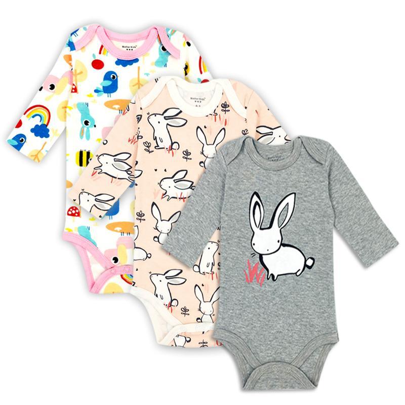 8a430883c 3 unidades / lote 100% algodón bebé recién nacido algodón cuerpo bebé de  manga larga ropa interior infantil niños niñas ropa conjuntos de bebé ...