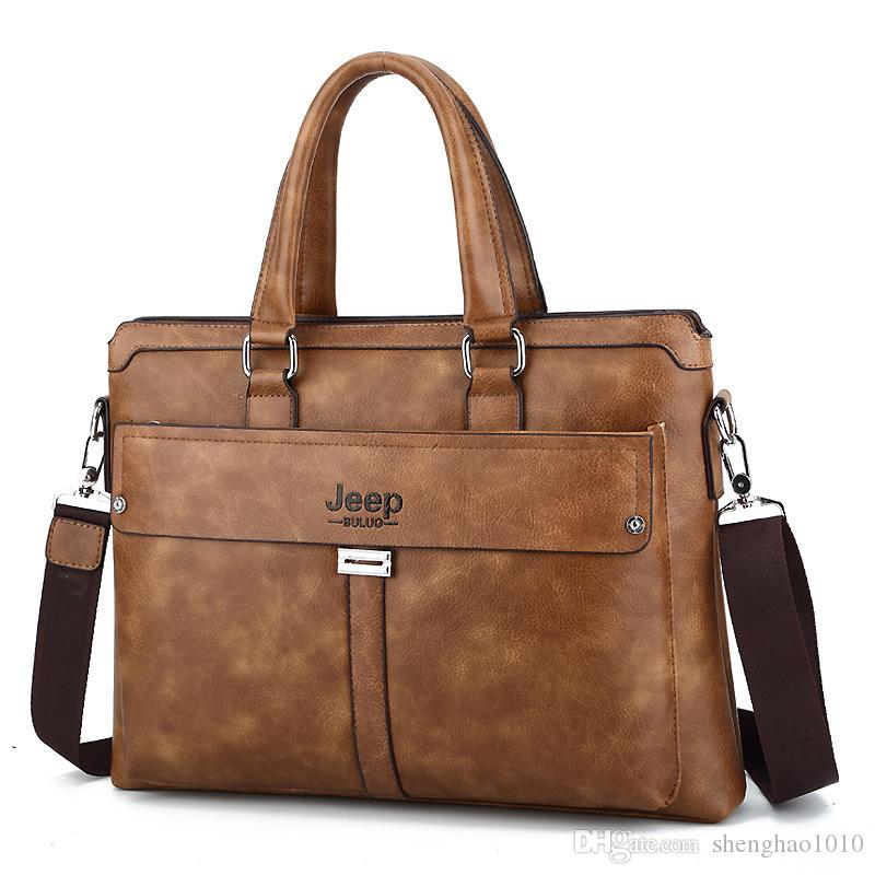 76b0a62ecb Brand Men Tote Casual Briefcase Business Shoulder Bag Brown Leather High  Quality Messenger Bags 14Laptop A4 Files Online with  55.09 Piece on  Shenghao1010 s ...