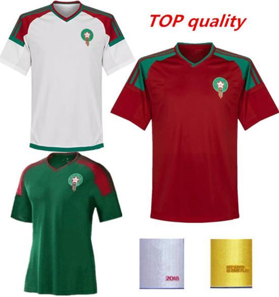 747634995 Compre Ronaldo Marrocos Main   Away Camisa 2018 Copa Do Mundo Vermelho  Camisas De Futebol Camisa De Futebol De Futbol Kit Correio Gratuito Casa E  Longe De ...