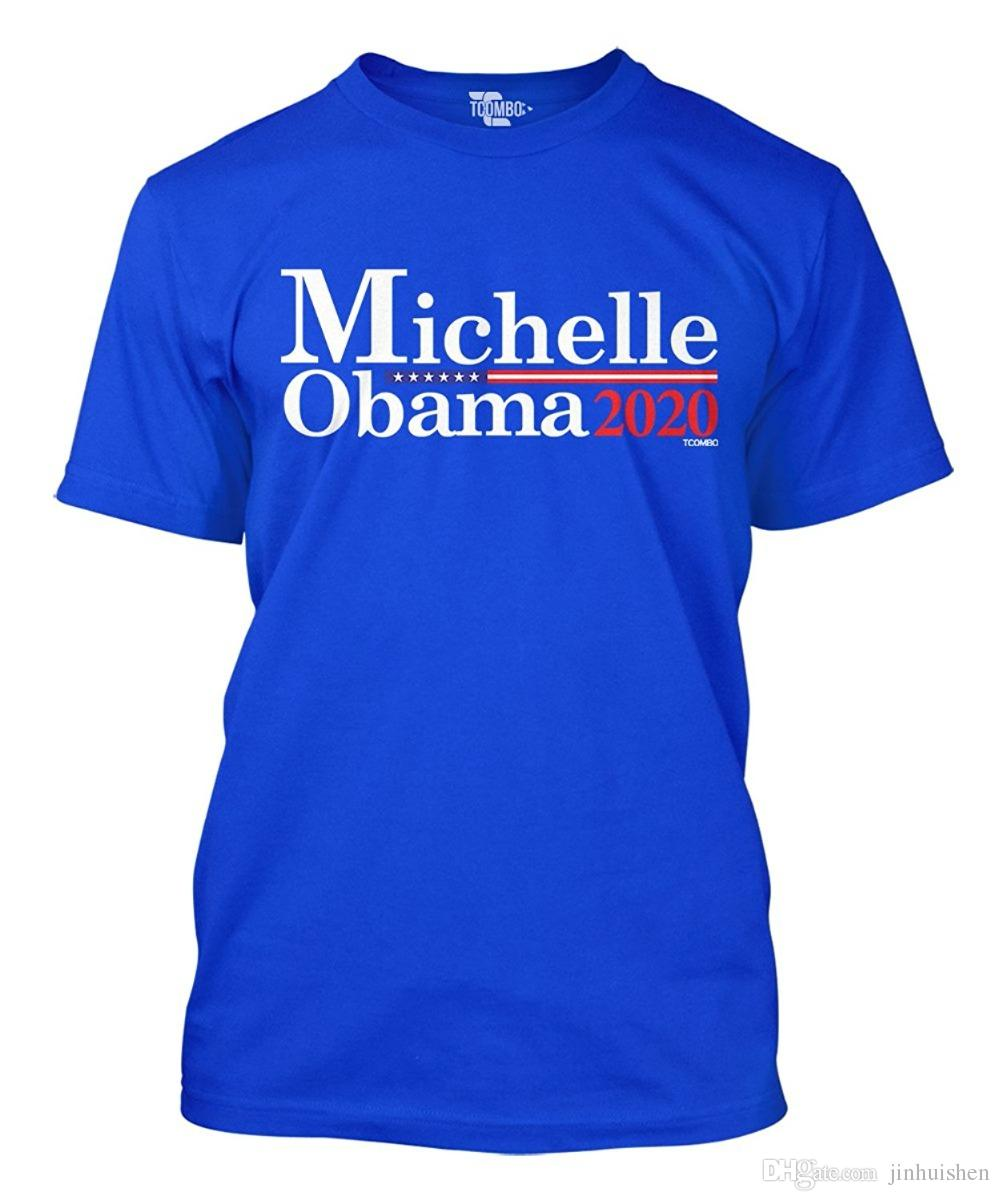 8f63ecaa 2018 New Fashion Man Michelle Obama For President 2020 Men'S T Shirt Print T  Shirts O Neck Short Sleeves Cool T Shirt Online T Shirt 24 Hours From ...
