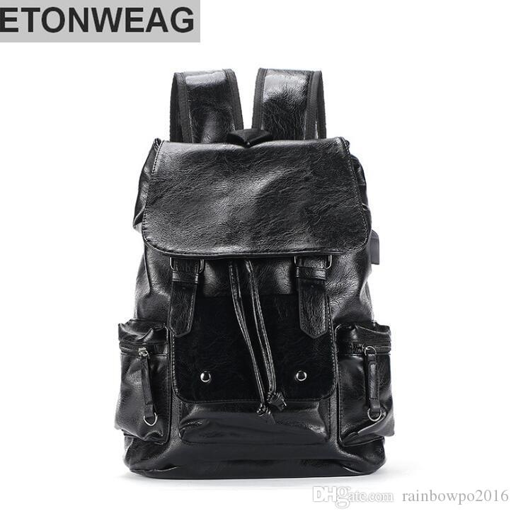 427743ea096e Factory Wholesale Brand Mens Contracted Leather Men Shoulder Knapsack  Outdoor Leisure Large Capacity Korean Plate Leather Hand Held Backpack  Camping ...