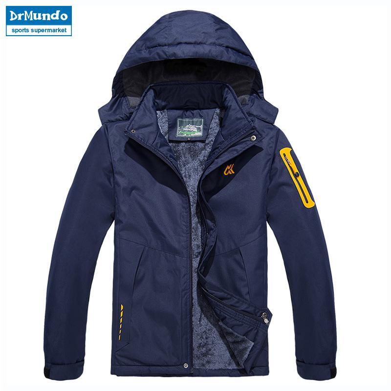 3ef3e34761c34 Acheter Veste De Ski Hommes Imperméable Polaire Veste De Neige Manteau  Thermique Pour Hommes En Plein Air Vestes D'hiver Neige Ski Wear Plus Size  Brand De ...