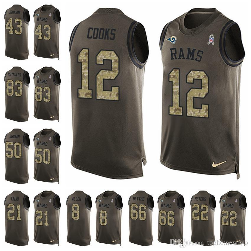 Los Angeles Limited Football Jersey Rams Green Salute to Service ... 63667300d
