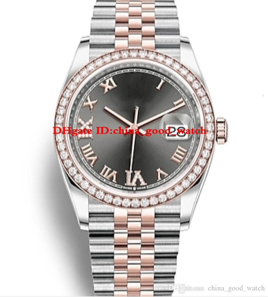 2eaf689331f Compre Novo Modelo De Luxo Assista 126281rbr 126281 Oyster Perpetual  Datejust 36mm Homens De Ouro Rosa Automático 2813 Movimento Mens Relógios  De ...