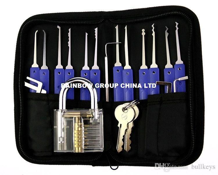 kit crochetage Lock pick locksmith tool door keys foldable lockpicking unlock