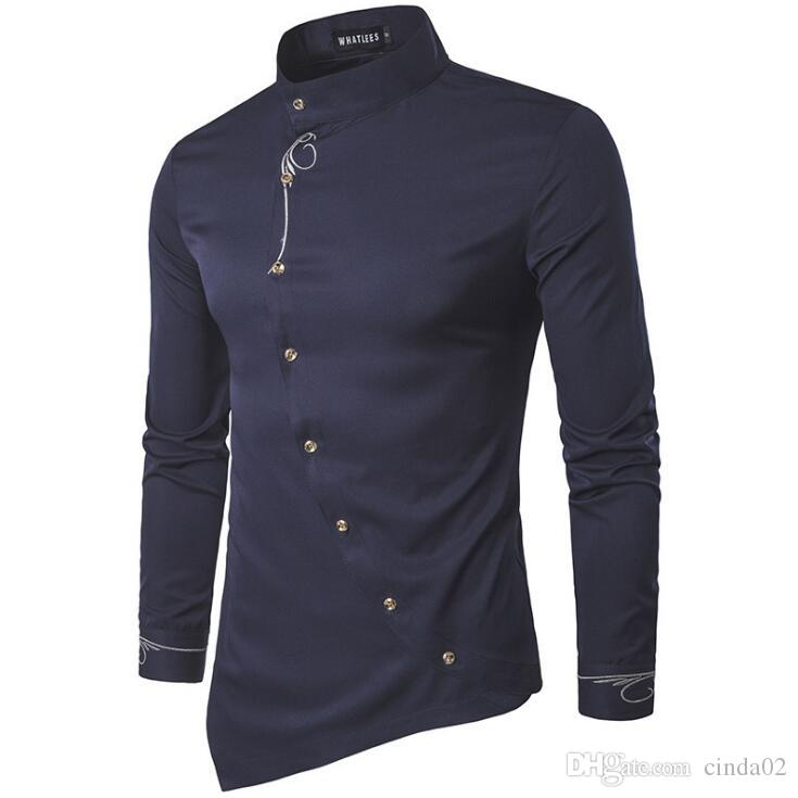 2019 Men Shirt Designer New Men Casual Shirt Long Sleeve Casual Slim Fit  Male Shirts From Cinda02, $33.51