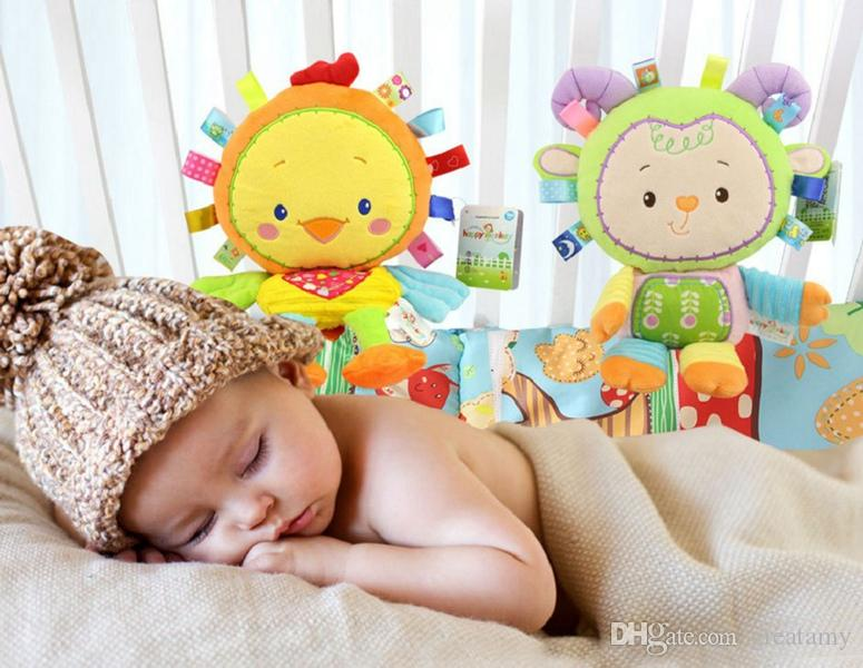best animal handbells developmental toy bed campane bambini giocattoli morbidi sonagli regalo bambini giocattoli morbidi sonaglio baby car around appeso campanello sonaglio