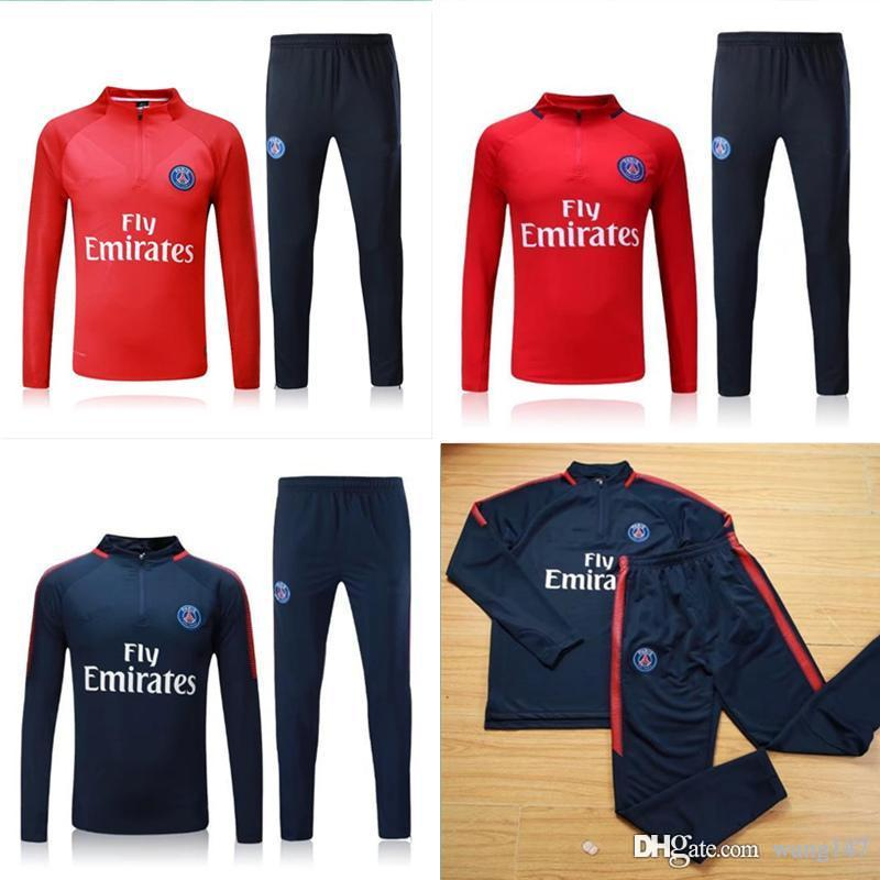 2019 Top Quality 2017 2018 PSG DI MARIA CAVANI Paris Training Suit Soccer  Jerseys Kit 17 18 VERRATT Paris Football Jacket Tracksuit Set From Wang147 fcf421f9e