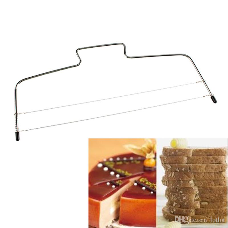 Double Line Adjustable Wire Cake Slicer Cake Cutter Tool Leveler Stainless Steel Slices Baking Pastry Tools 33cm x 16cm