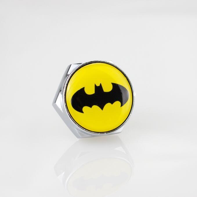 High Quality Auto Stainless steel Car License Plate Bolts Frame Chrome Screws Batman [More Logo avaialbel] Car accessories