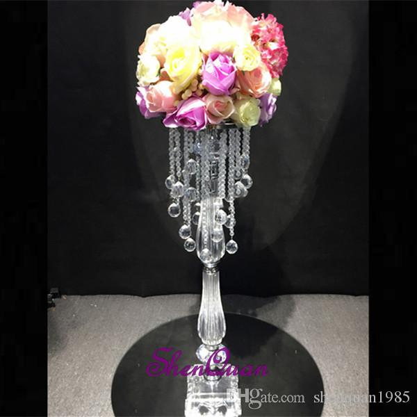 10pcs/lot,70cm tale artificial flower stand with wedding decoration Artificial flower wedding centerpiece rose Flowers decoration flowers