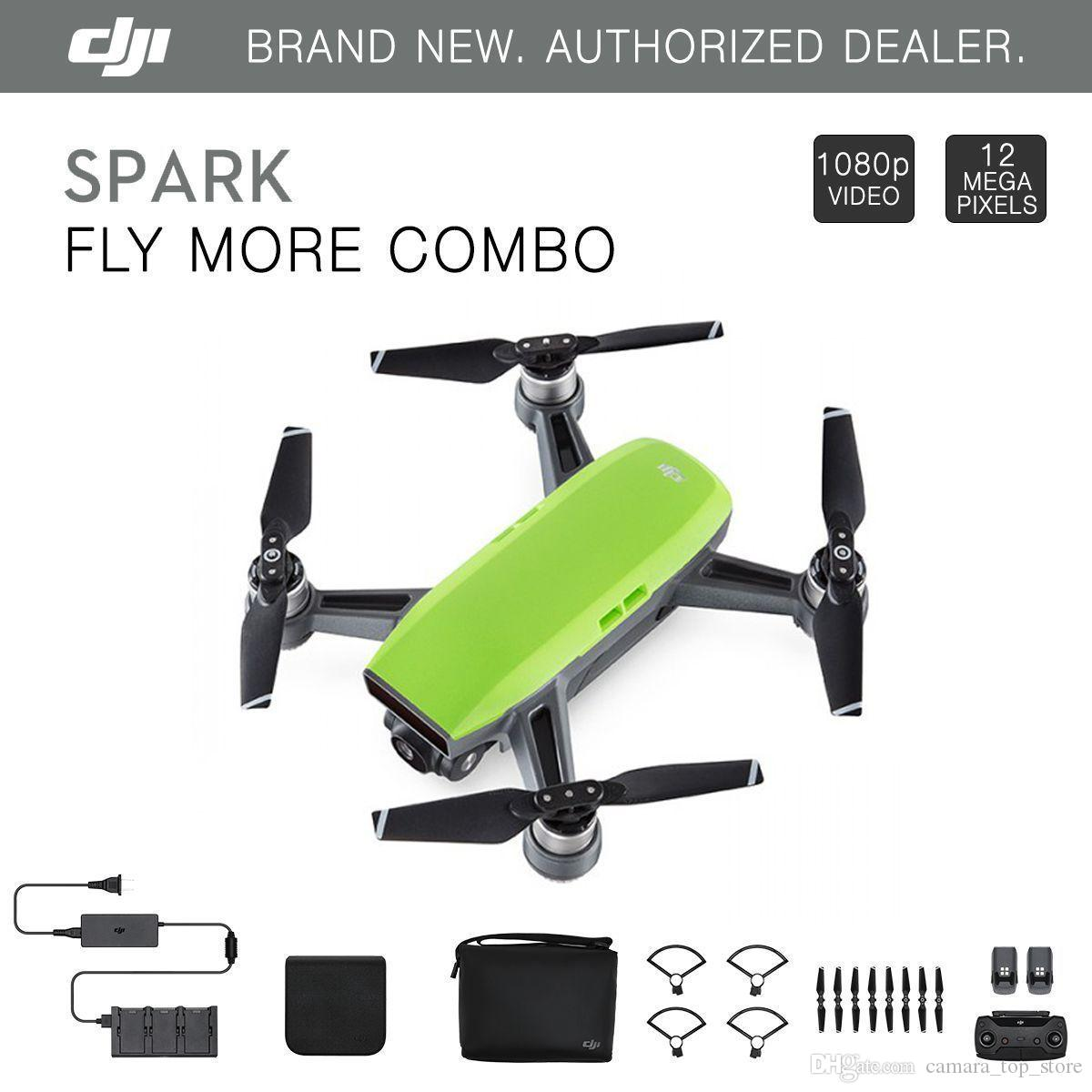 DJI Spark & Fly More Combo Mini Drone Pocket Selfie Drone WiFi FPV With 4K  HD Camera Spark and Remote Controller