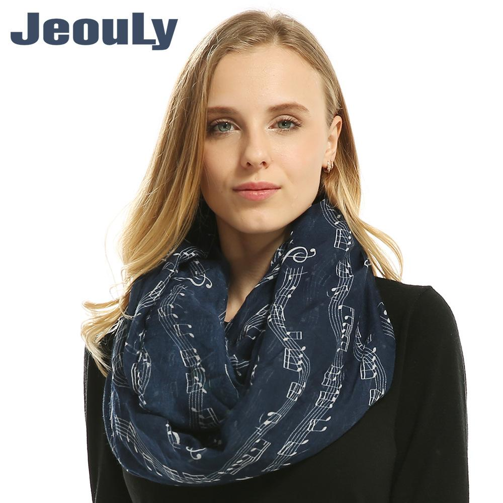 a0af87c4e Lady Navy Music Noted Sign Infinity Scarf Women Loop Scarves Female Sing  Shawl Head Scarf Wrap Girl Accessories RA1702035 Blanket Scarf Scarfs From  ...