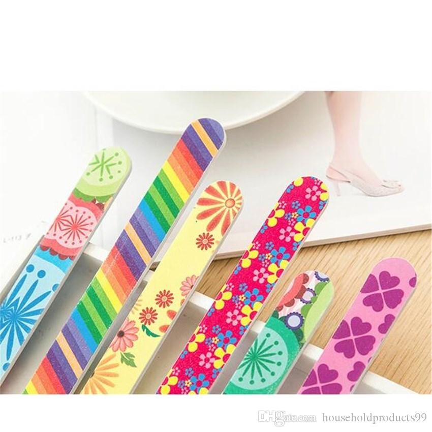 Nail Tool Fashion Printing 17.8*2cm Two-sided Nail File EVA Grind a Manicure Setback Sand Bar Strip Grind Sand Block Nail File