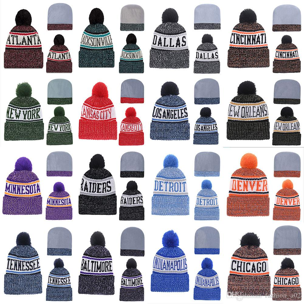 287fbbc81553e 2019 Hot Sale 2018 New Arrival Beanies Hats American Football 32 Teams Cold  Weather Sport Knit Hat Caps Beanie Free Drop Shippping From Fashion a02