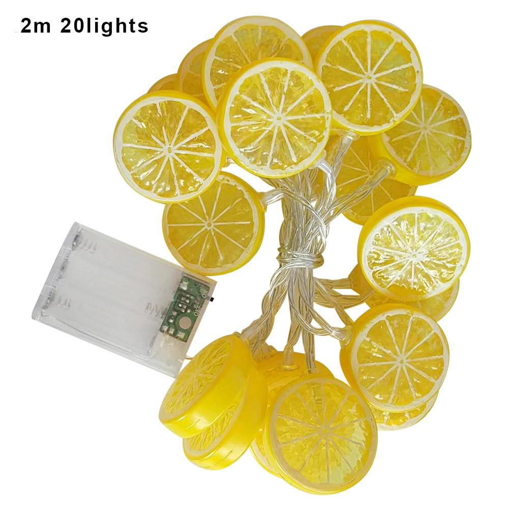 Obst Dekoration Lichter Urlaub Party Szene Layout Laternen Schlafzimmer  warm blinkende Lichter Zitrone Ananas LED Lichterketten