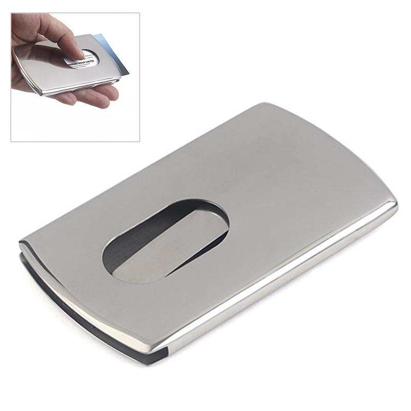 Business card holder women vogue thumb slide out stainless steel business card holder women vogue thumb slide out stainless steel pocket id credit card holder case men lxx9 kathy van zeeland ladies bags from murie colourmoves Image collections
