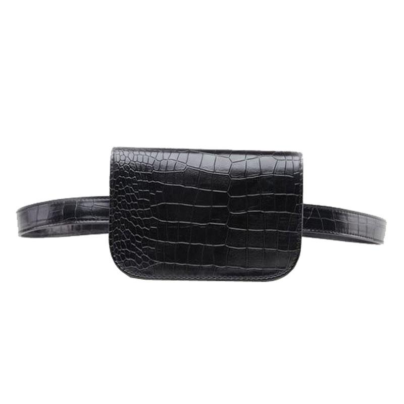 c3899bd43e5 Women S PU Leather Alligator Waist Bag Women Travel Waist Pack Belt Wallets  Phone Bag Backpack Handbags From Biuhouse
