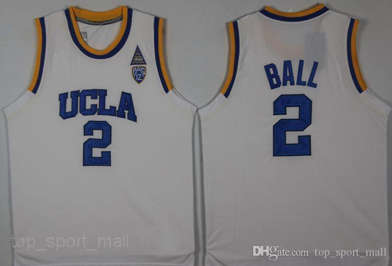 UCLA Bruins Jersey College-Basketball Russell Westbrook Lonzo-Ball Zach LaVine Kareem Abdul Jabbar Reggie Miller Bill Walton Kevin Love Blue