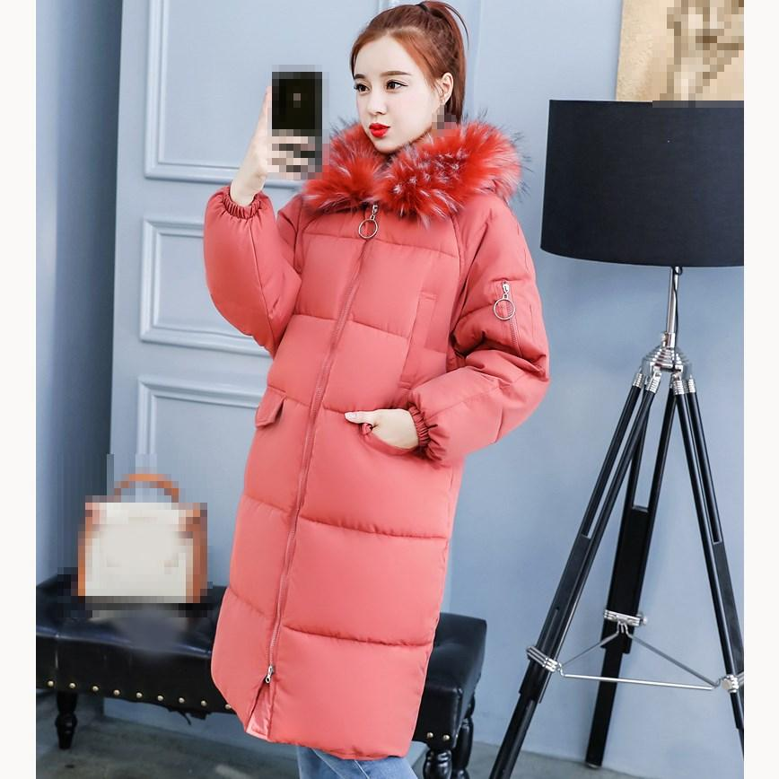 0e8ec2046ce 2019 2018 Winter Women Thick Coat Big Fur Collar Warm Long Parka Solid Long  Sleeve Hooded Cotton Padded Coat From Chencloth66