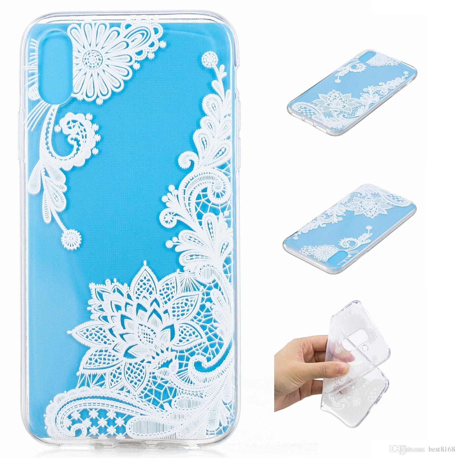 Soft Tpu Gel Case For Huawei Y6 2018 Honor 10 Xiaomi 8 Mi8 Mix 2s Glitter Bling Wrap Skin Mi Max Note 5 Pro Redmi 5a 4x One Plus 6 Unicorn Butterfly Flower Lace Cover Buy Cell