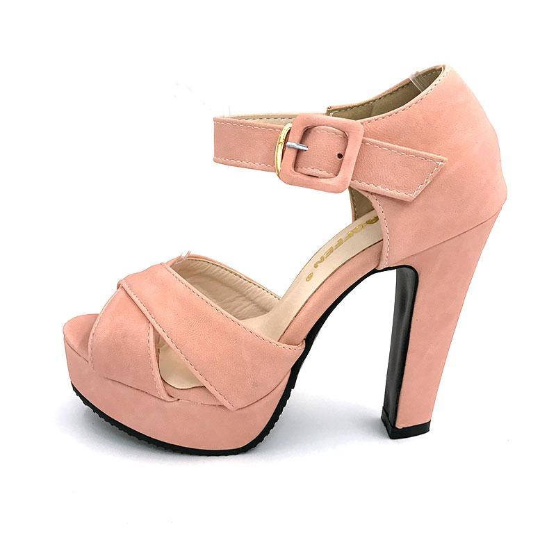 c512472cc06 TAOFFEN Size 32 43 Women S High Heel Sandals Peep Toe Ankle Strap Heeled  Sandal Platform Shoes Women Party Ladies Footwear Jack Rogers Sandals White  Wedges ...