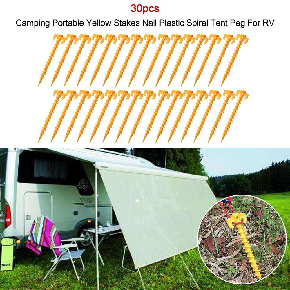 5 /12 /20 C&ing Portable Yellow Stakes Nail Plastic Spiral Tent Peg For RV Car Accessories Outdoor Car Covers Uk Outside Car Cover From Atuomoto ...  sc 1 st  DHgate & 5 /12 /20 Camping Portable Yellow Stakes Nail Plastic Spiral Tent ...