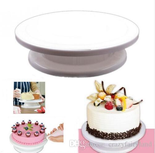 2018 cake turntable kitchen cake plate revolving decoration stand platform turntable round rotating cake swivel christmas baking tool from crazyfairyland - Turntable Kitchen