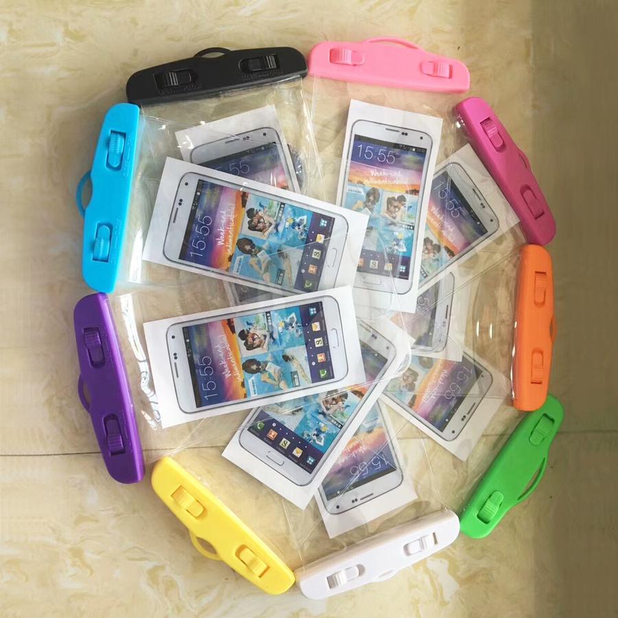 Bolsa de teléfono impermeable bolsa protectora de teléfono móvil de PVC con bolsas de buceo natación Deportes para iphone X 7 8 más S8 s8 plus