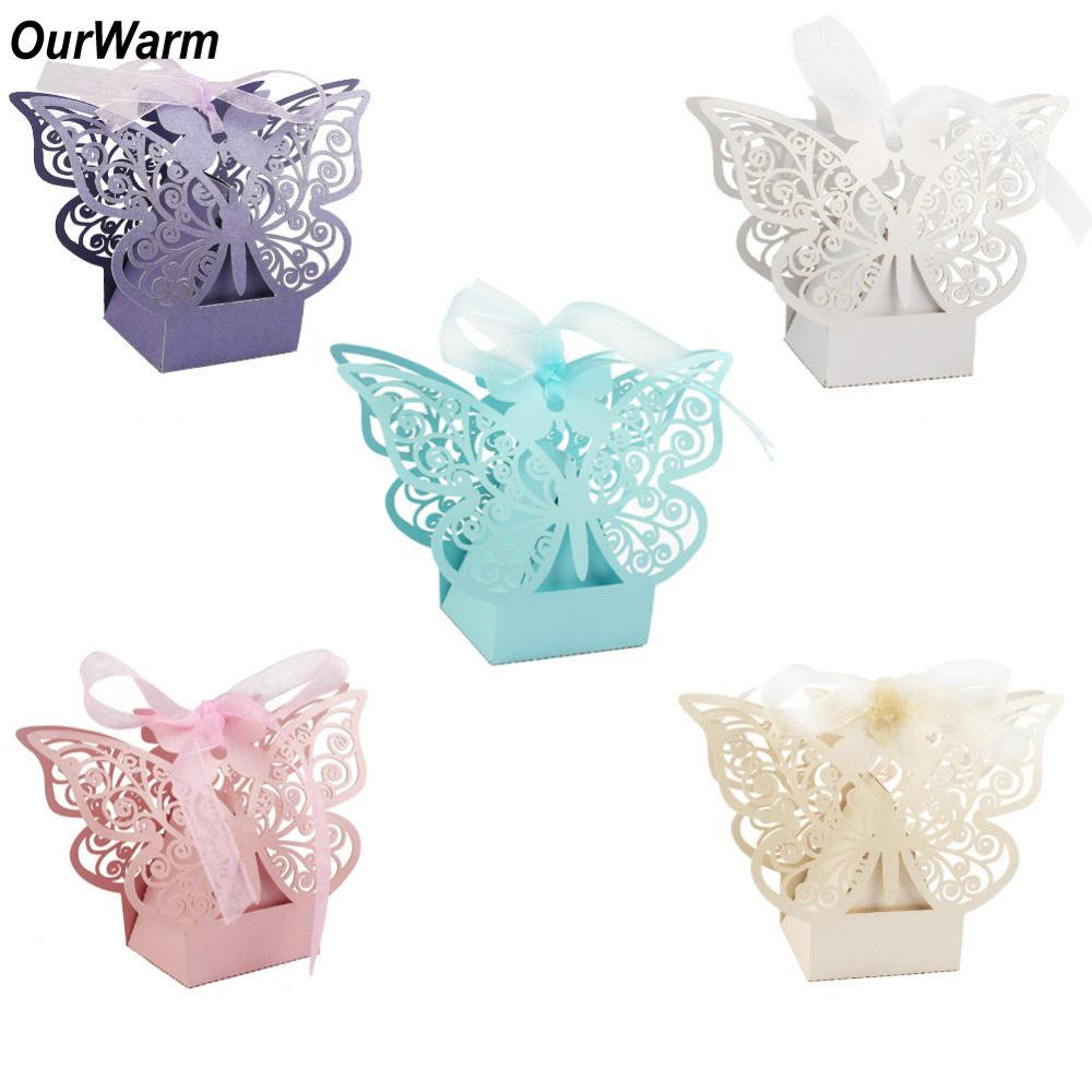 Ourwarm Cute Paper Candy Box Wedding Favors Gift Box Chocolate Box ...