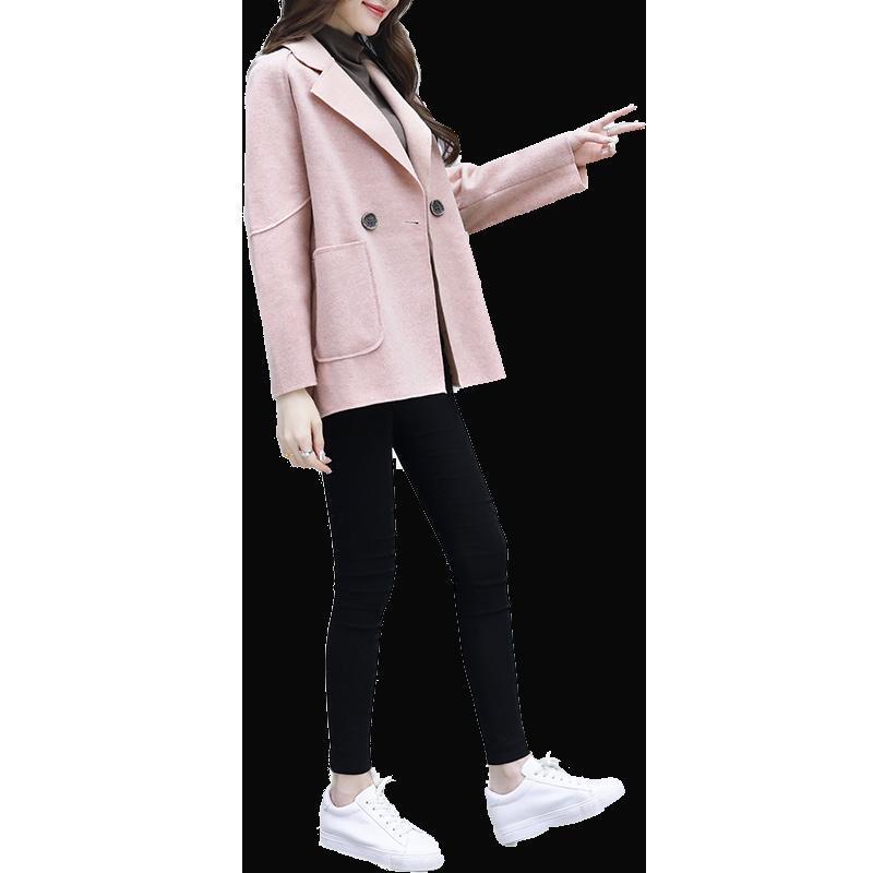 e2d7c170ba6d4d Großhandel Neue Winter Damenbekleidung Koreanische Mode Lose Rosa Tuch Mantel  Jacke Top Kleidung Tasche Tweed Outfit Vestido Mädchen Mantel S Xl Von  Yonnie, ...