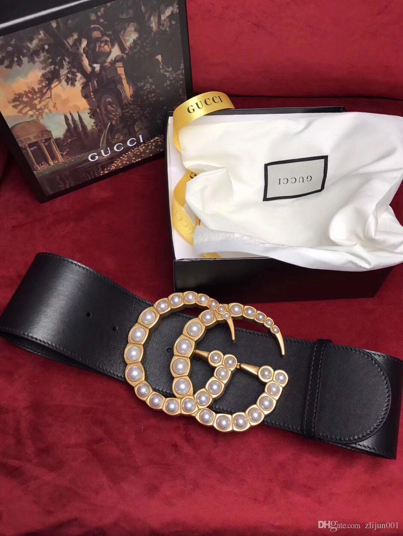 d3ad64ed11a 2018 Big Lette Buckle 7cm Belt With Box Designer Belts Men Women High  Quality New New Mens Belts Luxury Brand Belt Rhinestone Belts Police Duty  Belt From ...