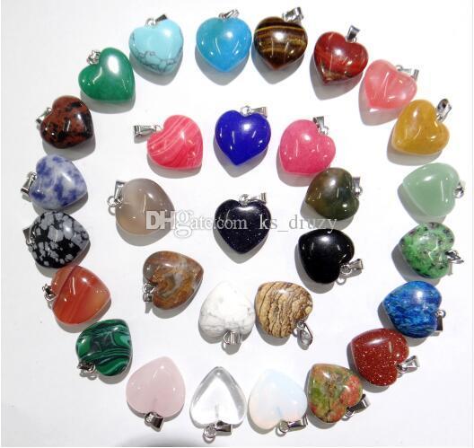 10 estilos Lotes Cruz Waterdrop Druzy Cristal Pingente de Pedra Natural DIY Colar Brincos Encantos Mulheres Homens Moda Jóias